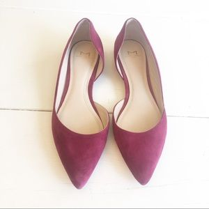 MARC FISHER fuchsia suede d'orsay flats